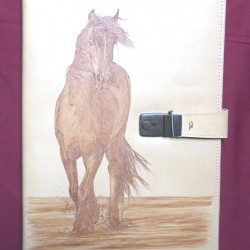 porte-document cheval