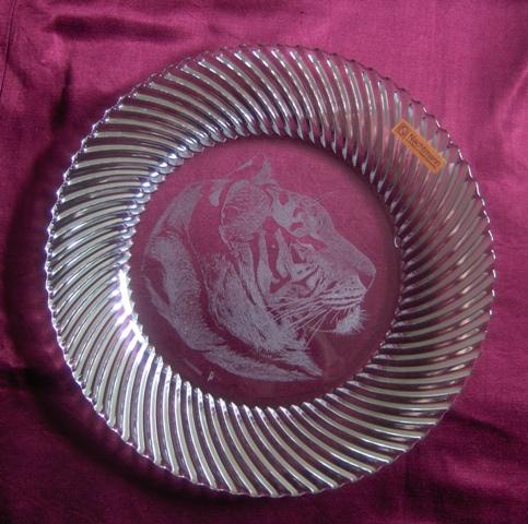 assiette samba gravure tigre