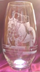 vase cheval diva