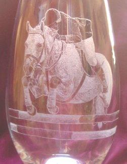 vase cheval saut