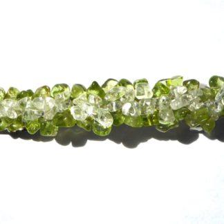 barrette en péridot et cristal de roche