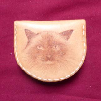 porte-monnaie tête chat