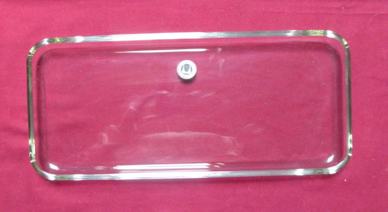 plat rectangulaire en verre