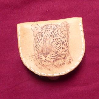 petit pèorte-monnaie tête léopard