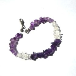 bracelet en cristal et améthyste