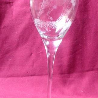 verre en cristal cheval
